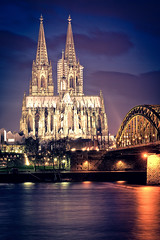 Cologne Cathedral Night Lights photo by _flowtation
