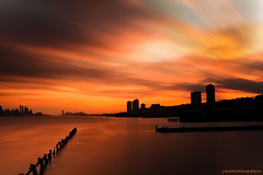 Colorful sunset on the hudson river photo by Jason Pierce Photography