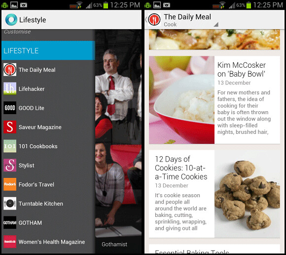 Google Currents app for Android - feed aggregator