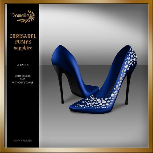 DANIELLE Christabel Pumps Sapphire