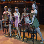 Fandango Girls - Emily Ariel Rogers, Katie Spelman, Tiffany Topol, Karen Burthwright and Ericka Mac in SWEET CHARITY at Writers Theatre. Photo by Michael Brosilow.