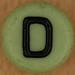 bead letter D