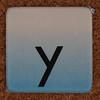 cardboard tile letter y