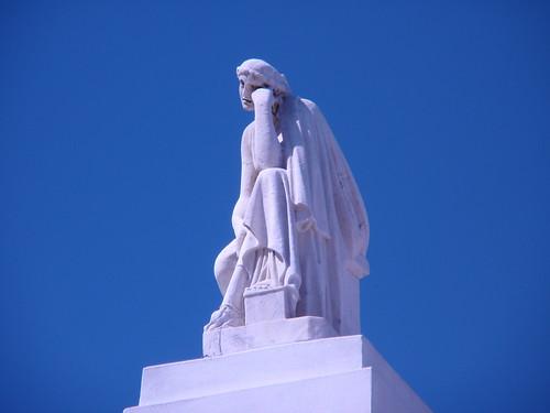 Contemplating Statue