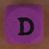 Coloured bead letter D