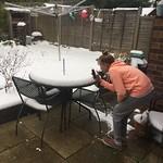 Emma measuring the snow<br/>18 Mar 2018