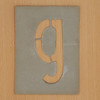 Waterproof card stencil letter g