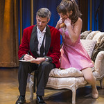 Jeff Parker (Vittorio) and Tiffany Topol (Charity) in SWEET CHARITY at Writers Theatre. Photo by Michael Brosilow.