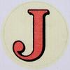 Vintage Sticker Letter J