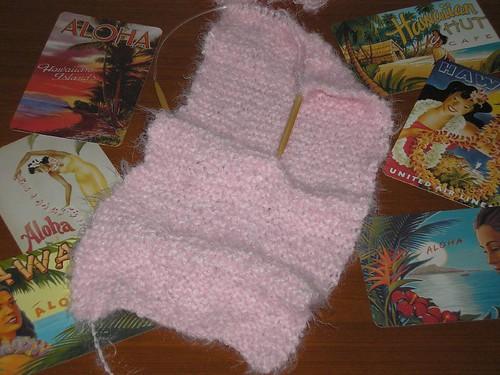 Pink Scarf Progress