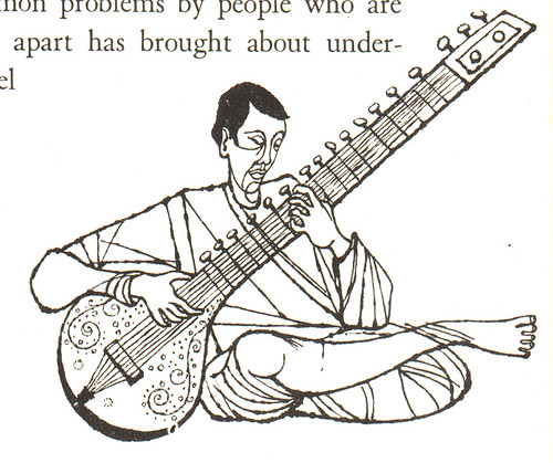 Growing Toward Peace: man with sitar