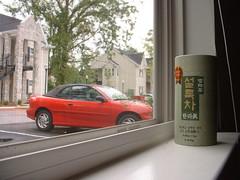 Our car and tea that Johanna gave me