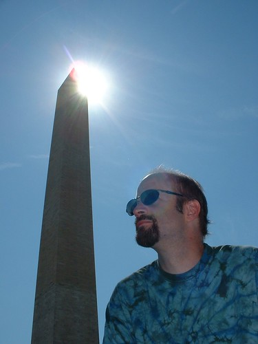 Rob and haloed Washington Memorial