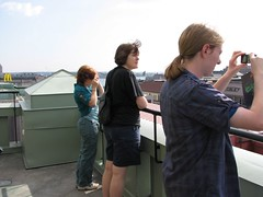 Taking pictures of Helsinki from the tower