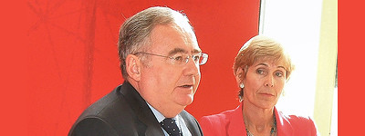 Pat Rabbitte and Liz McManus