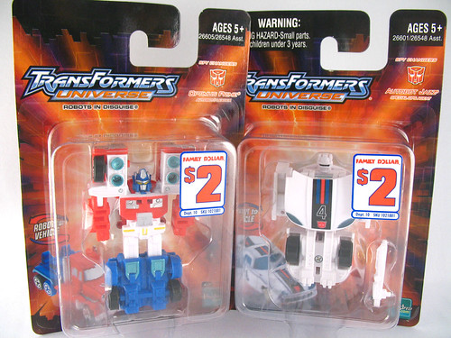 TFU Spychangers Optimus Prime and Jazz (Family Dollar