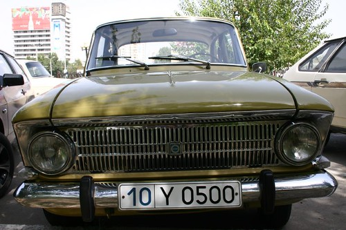 Good old Russian Moskwitz...I love the sad look of this automobile...