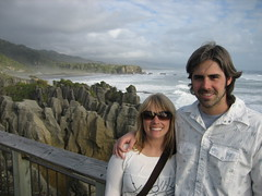 Jen & Mike at the Pancake Rocks - Punakaiki