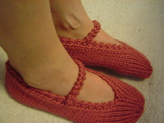 cashmerino mary jane slippers