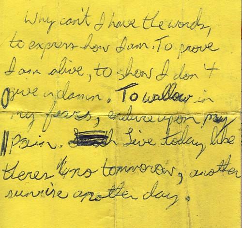 sad note 2
