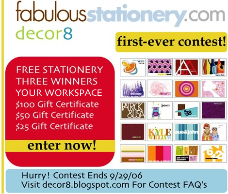 decor8 CONTEST: Your Workspace (WIN FREE STUFF!)