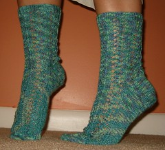 Hedera Socks Modeled