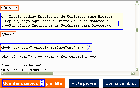 How-to emoticonos Wordpress en Blogger
