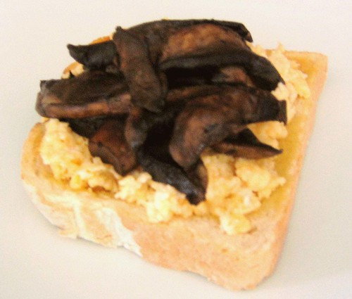 Scrambled Eggs and Mushrooms on Toast PS