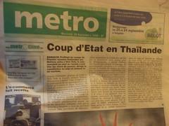 Coup d'Etat en Thaïlande