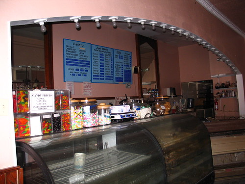 Angelo Brocato's, October 10, 2005 - Inside, the counter