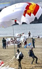 Paracaidistas en el País Vasco