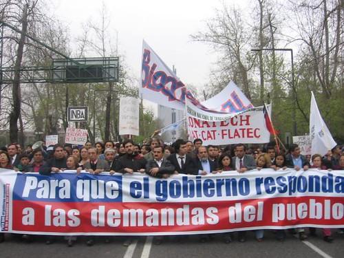 marcha Bloque Social por la Educación