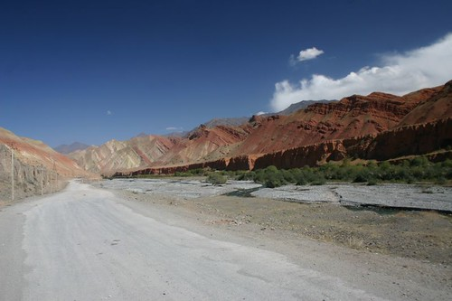 Fantastic backdrops along the Kyrgyz Silk Road...