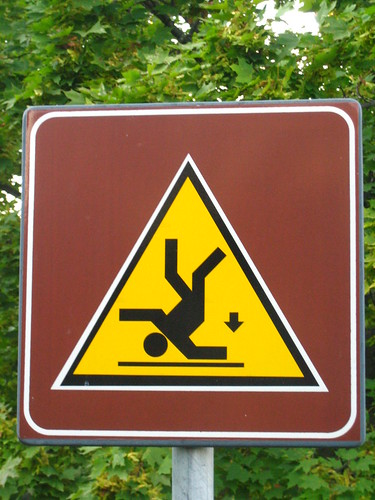 Warning sign in Fiesole