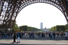 Suasana di bawah Eiffel