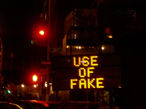 use of fake