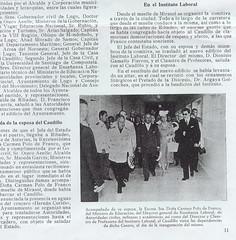 o dictador Francisco Franco inagura o instituto de Ribadeo en 1958