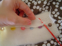 Crochet edging and buttonholes