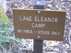 Lake Eleanor campsite