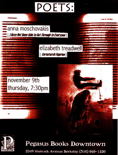 Anna Moschovakis Elizabeth Treadwell Pegasus Books Downtown Berkeley