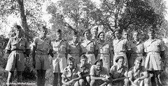 1943 Octobre - Maroc- Cours d'Elèves aspirants à Temara. Michel Abalan 1er à gauche - Famille Abalan