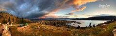 Knox Mountain, Kelowna, British Columbia, Canada - Panoramic photo by Vanessa Kade