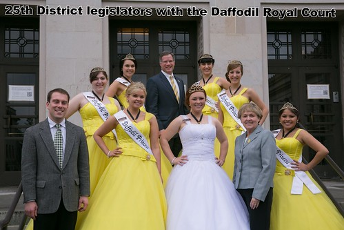 25th District legislators with the Daffodil Royal Court