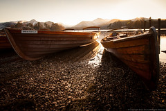 Two Boats at Sunset photo by Brian Shore