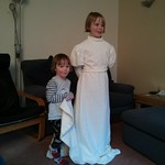 dressing up in granny's wedding dress<br/>17 Mar 2013