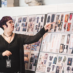 Costume Designer Mara Blumenfeld at the first rehearsal for JULIUS CAESAR at Writers Theatre. Photo by Joe Mazza—brave lux.