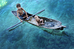 Sea Gypsies : Bajau Boys photo by Tuah Roslan