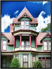 Clifton Pearl Bed and Breakfast ~ Victorian Architecture ~ Clifton Springs NY ~ Historical photo by Onasill ~ Bill Badzo