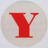 Vintage Sticker Letter Y