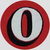 Vintage Sticker Letter O